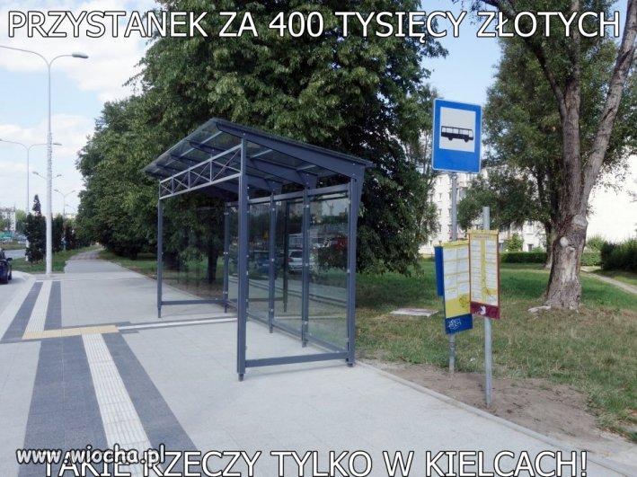 400 tys. złotych za wiatę, chodnik i beton