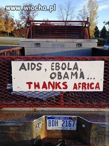 Ameryka dziękuje Afryce