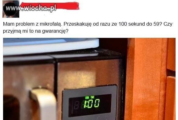 Reklamacja mikrofali