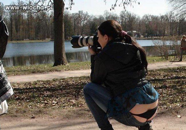 Ciekawe czy ma lepszy obiekt do fotografowania