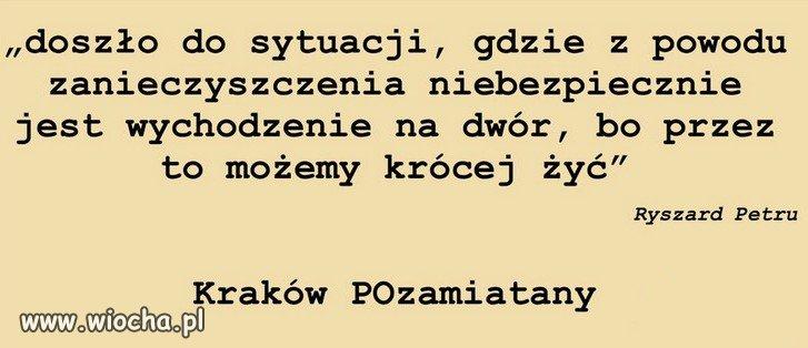 PiS  zanieczyścił Kraków