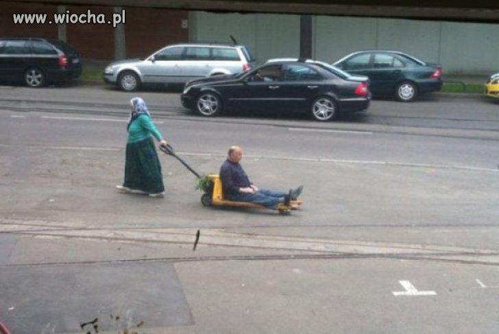 Cygański transport.