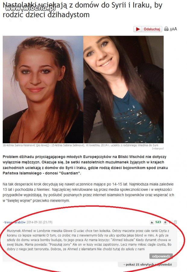 Europejskie Nastolatki rodzą dla dżihadystów.