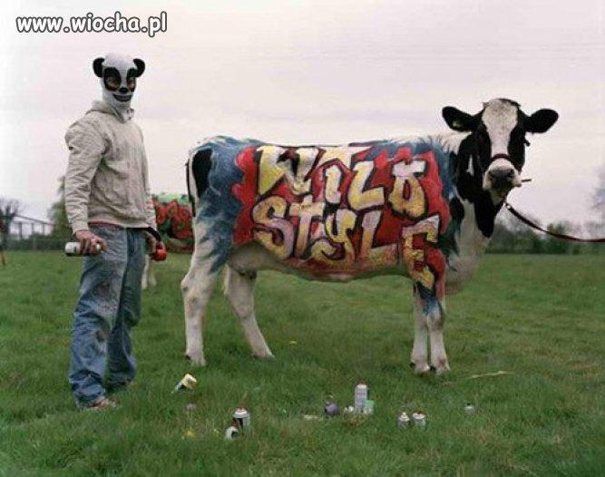 Pomalować komuś krowę na polu ???