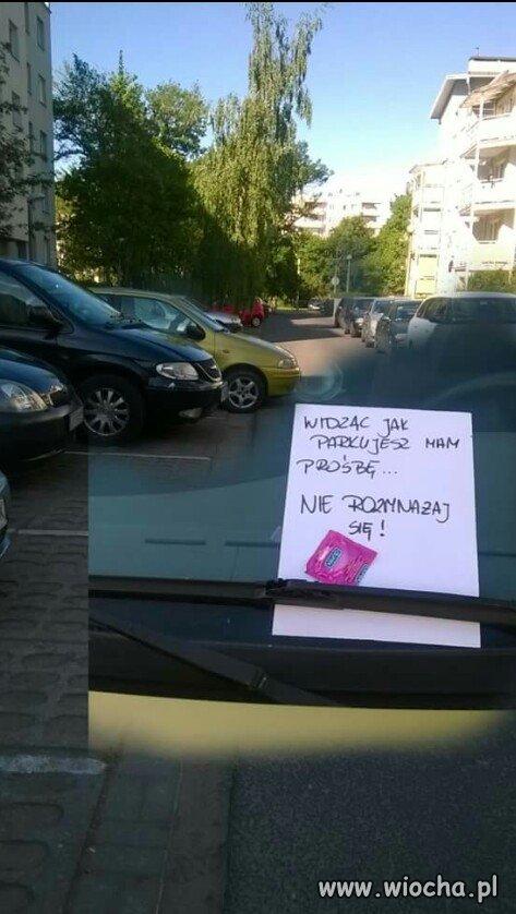 O to to dla Wieśniaków parkujących