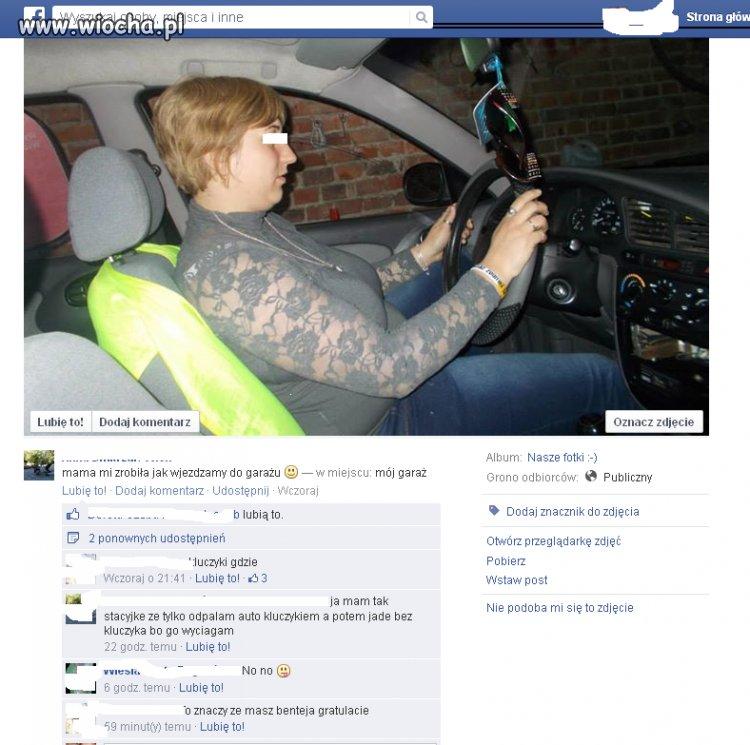 Jej samochód jeździ bez kluczyków