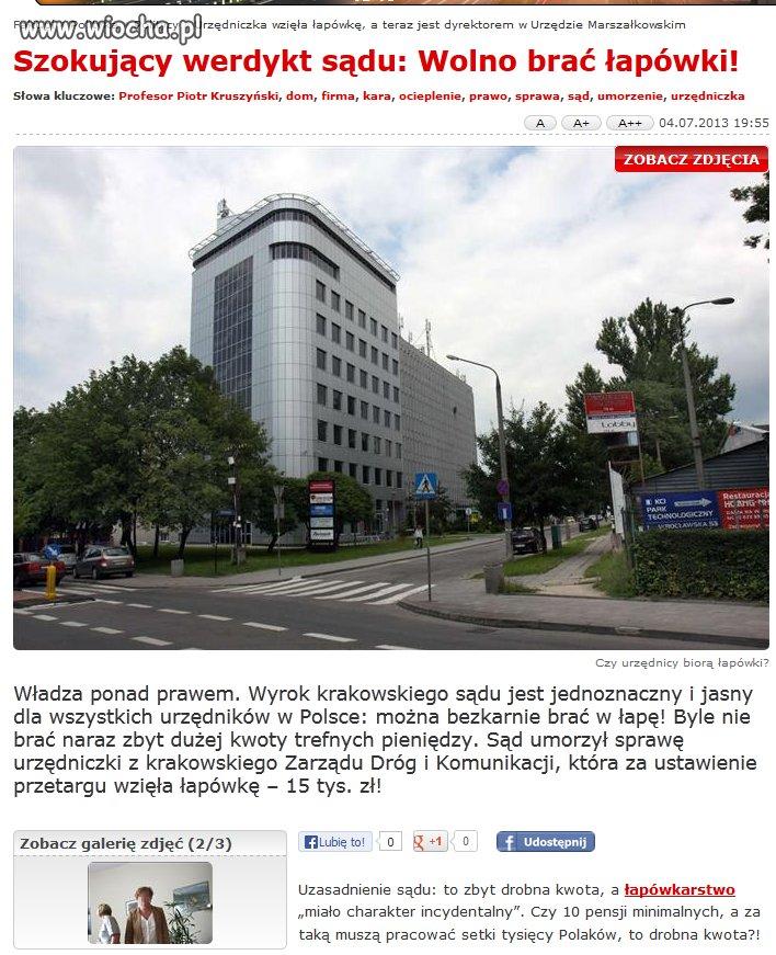 W Polsce wolno brać łapówki