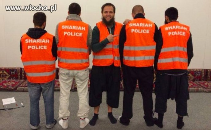 Policjanci szariatu w Niemczech.