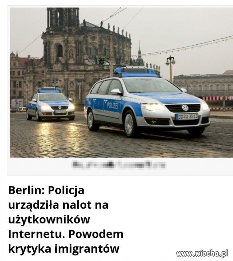 Policja organizuje naloty na krytyków imigracji