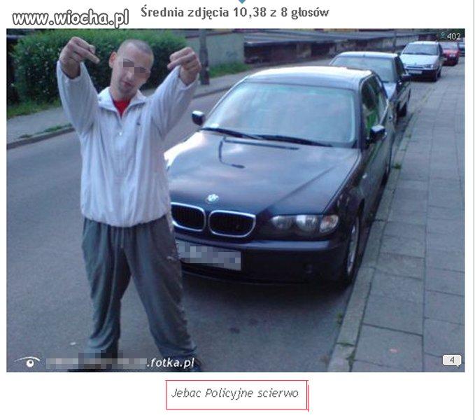 Cudze BMW dres i środkowe palce