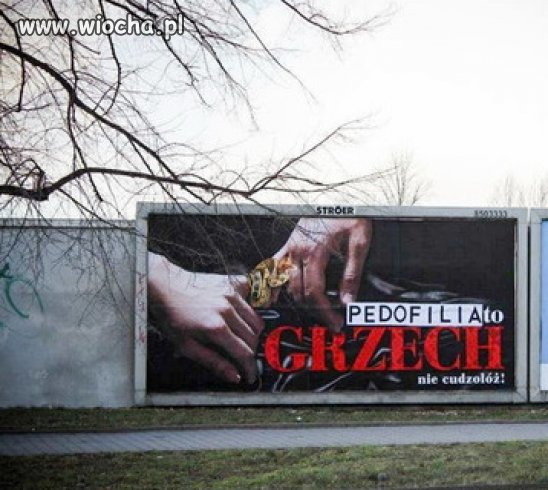 We Wrocławiu ktoś poprawił baner