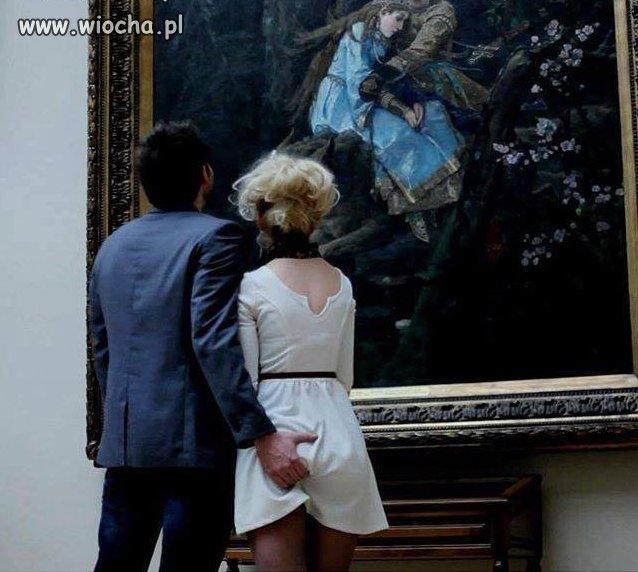W muzeum sztuke można dotknąć