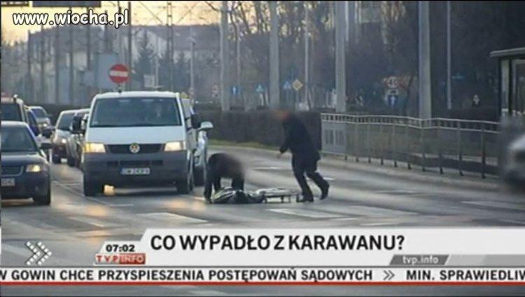 Wrocław: z karawanu wypadły zwłoki