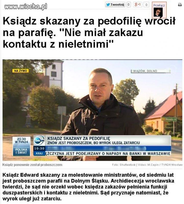 Skazany pedofil znowu udziela komunii...
