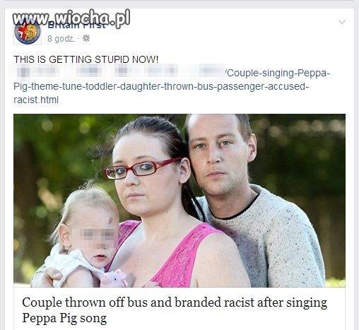 Wyrzuceni z autobusu bo śpiewali o śwince Peppa.