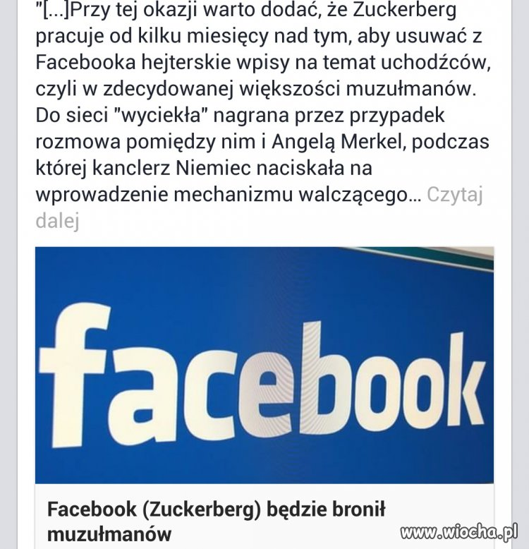 Niemiecka cenzura puka do Facebooka.