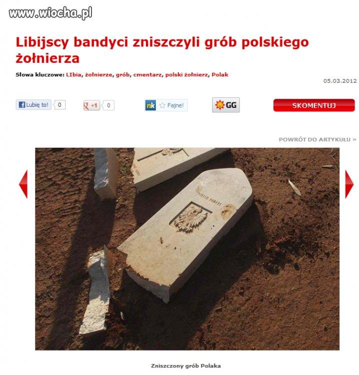 Bandyci zniszczyli grób polskiego żołnierza