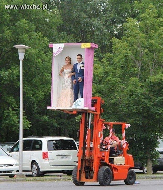 Oryginalny wjazd na wesele