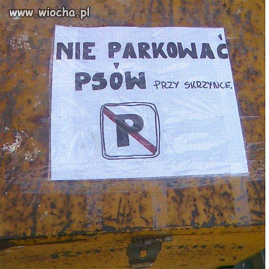 Nie parkować...