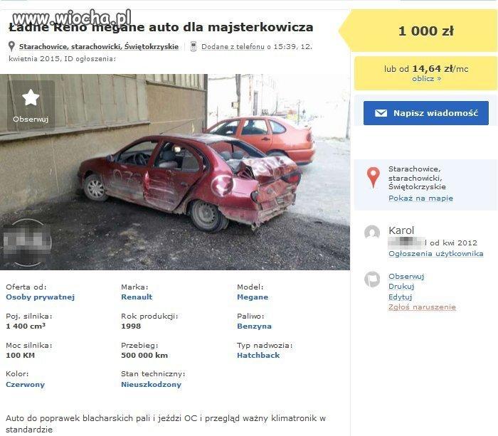 """,,Auto do poprawek blacharskich"""""""