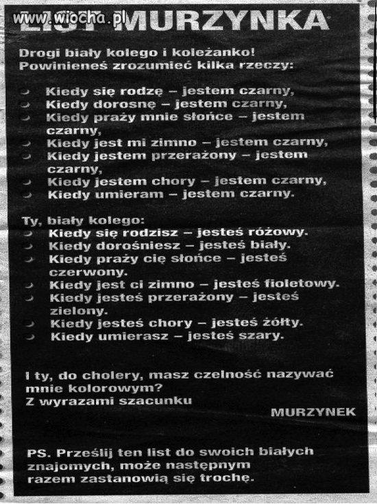 List Murzynka