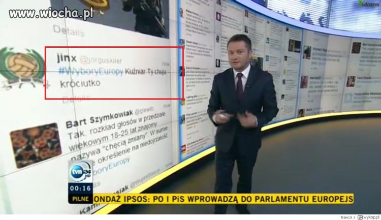 Mała wpadka w TVN24