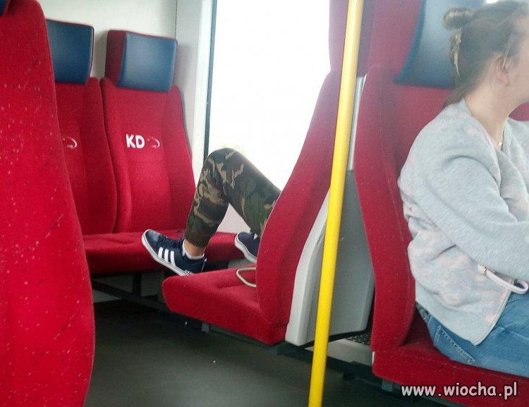 Wieśniak w pociągu
