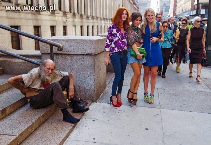 Lans z bezdomnym.