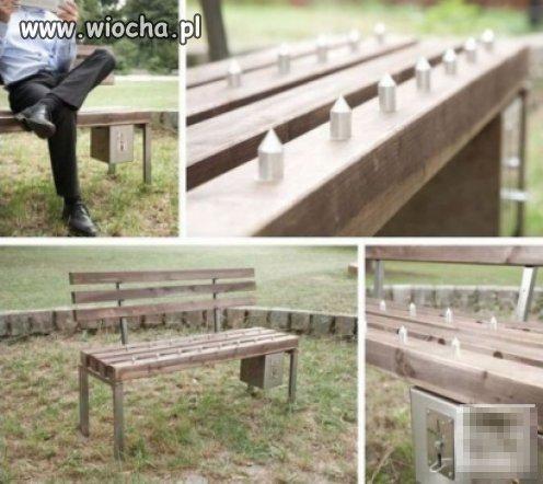 Płatna ławka w parku