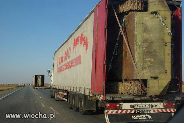 Przewóz czołgu