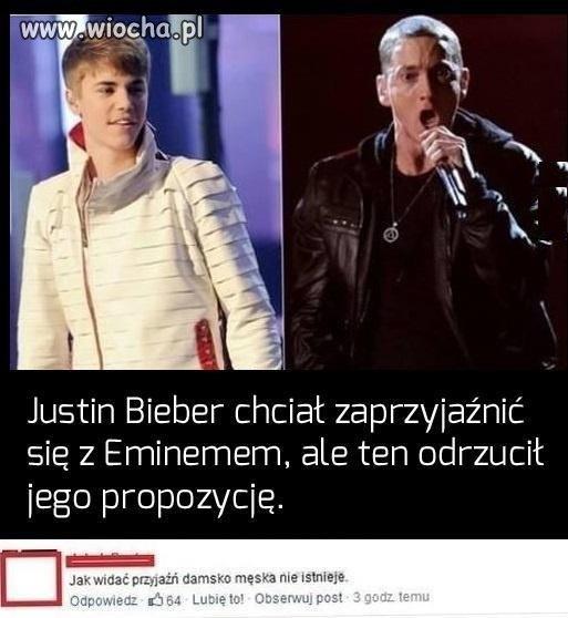 Bieber i Eminem.