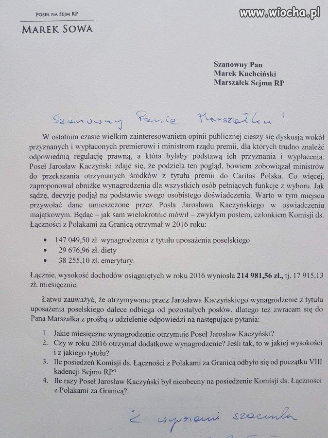 Dochody Kaczyńskiego