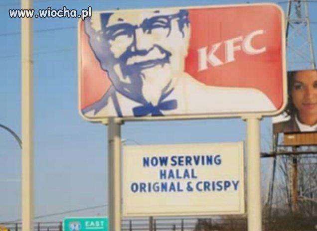 KFC serwuje mięso wg muslimskiego uboju.