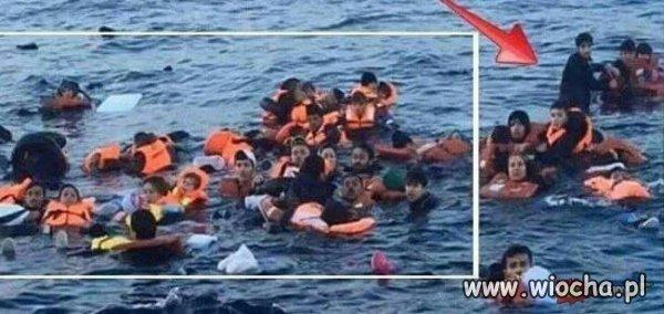Dramat uchod�cy.Nie zd��y� usi��� do zdj�cia