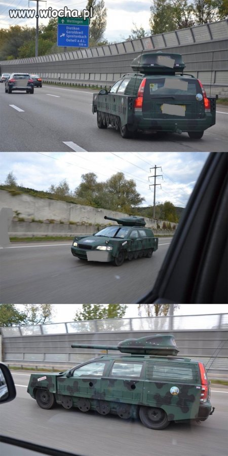 Czołg na autostradzie