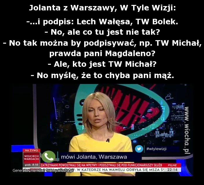 Jolanta z Warszawy, W Tyle Wizji: