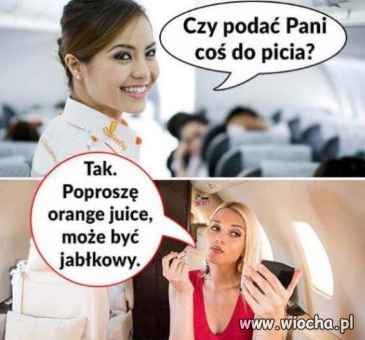 Blondynka w samolocie...