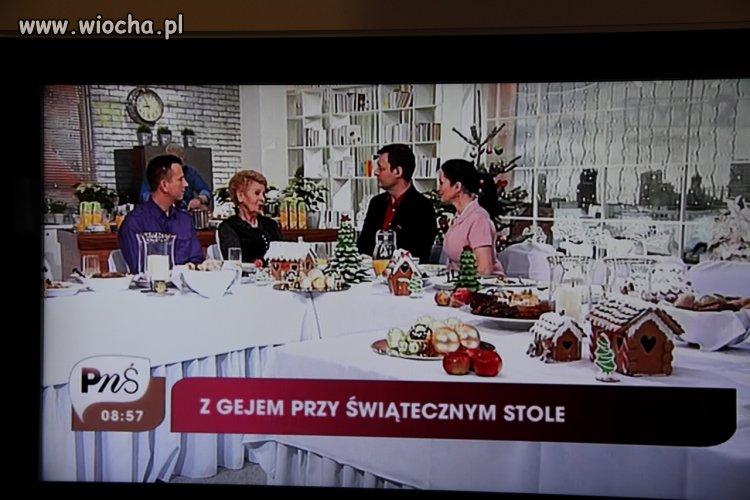 Z gejem przy świątecznym stole