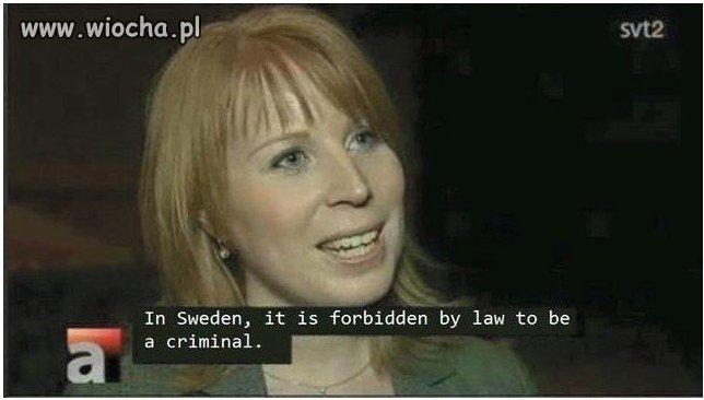 Problem przestępczości w Szwecji rozwiązany