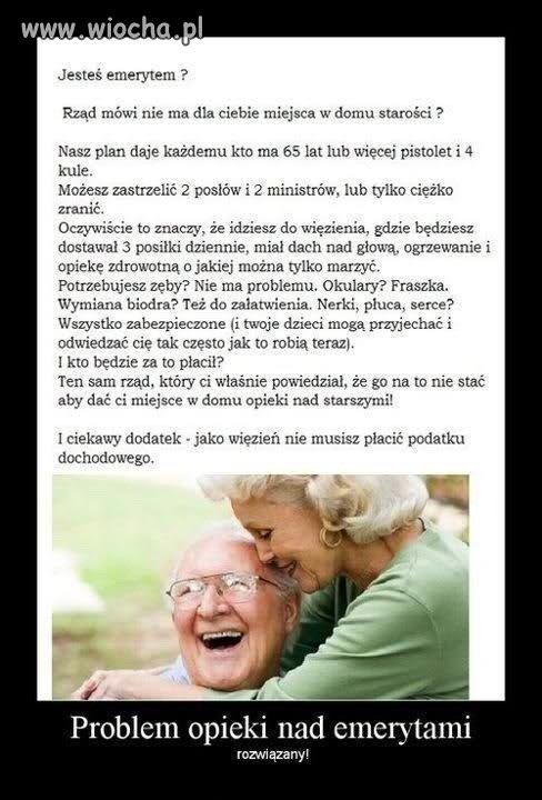 Problem opieki nad emerytami - ROZWIĄZANY
