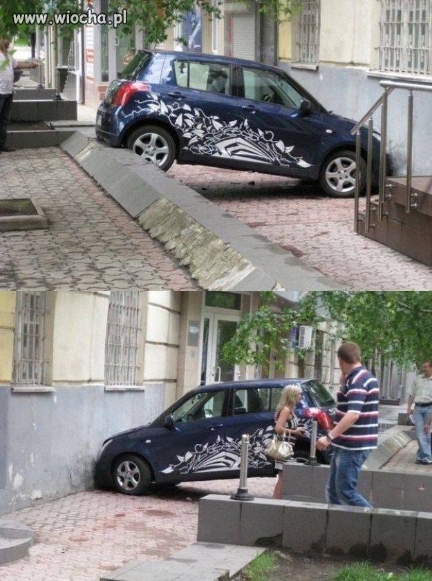 Kolejna mistrzyni parkowania.
