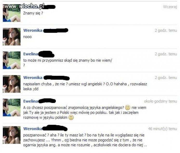 Weronika lat 12 i jej język angielski