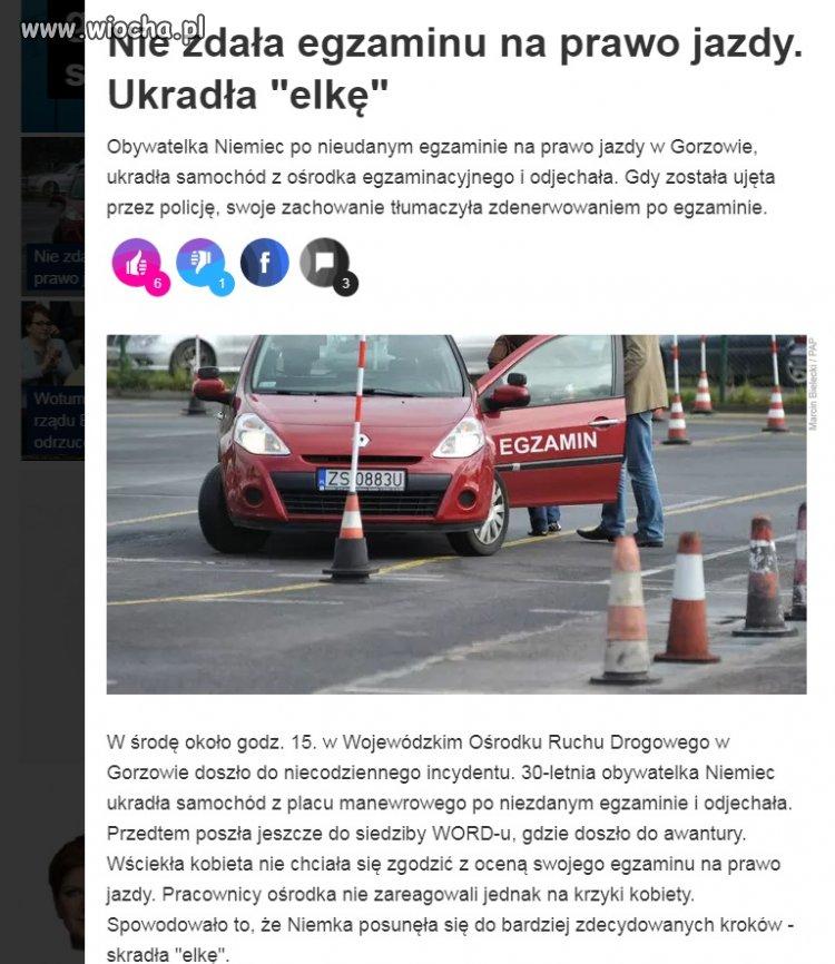 Niemcy też kradną auta