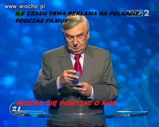 Polsat: blok reklamowy przerywany filmem