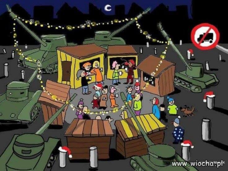 Święta w postępowej Europie na jednym obrazku