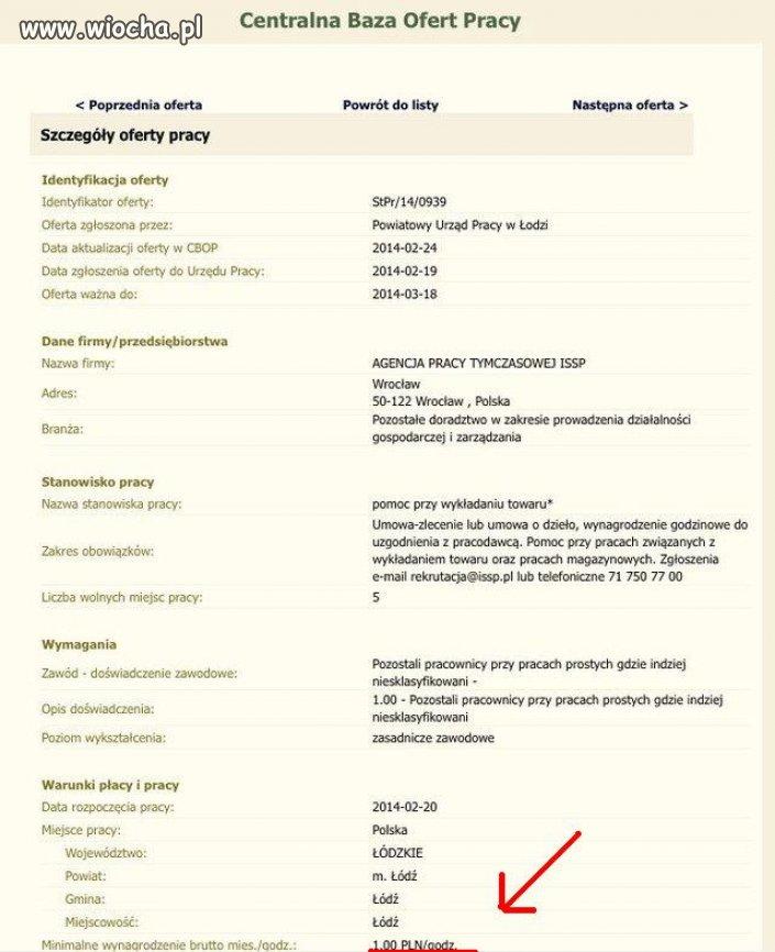 Oferta pracy w Łódzkim pośredniaku
