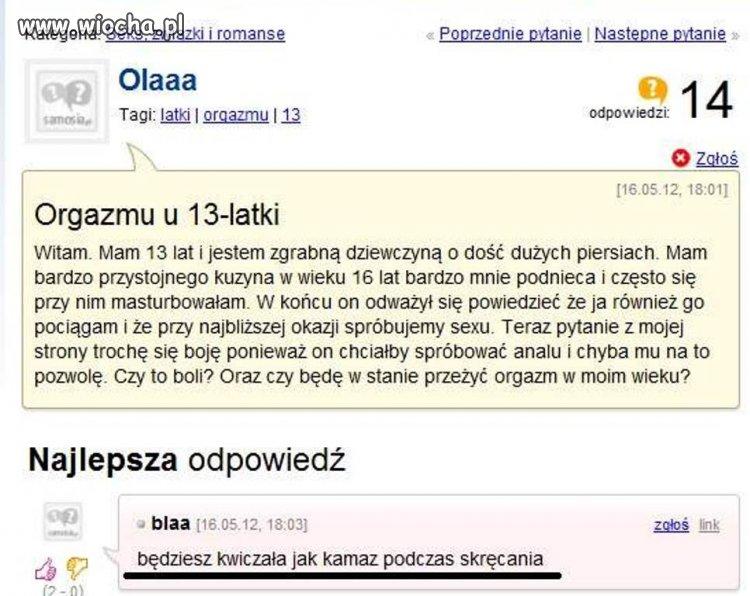 Ola13latka pyta...kazirodztwo i sex w wieku 13lat.