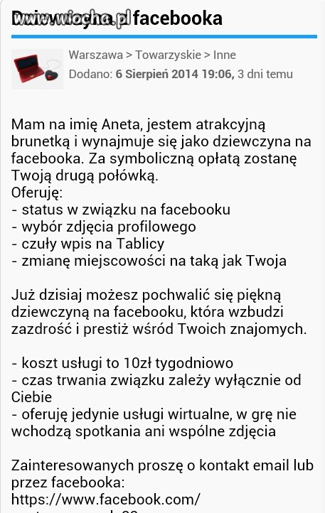 Dziewczyna z facebooka
