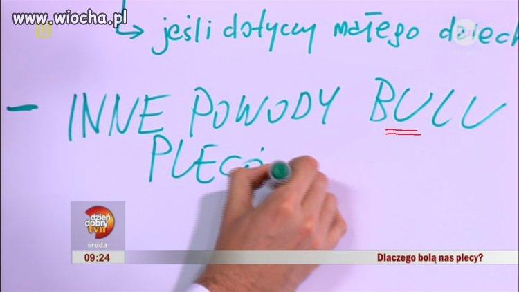 Ortografia redaktorów TVN