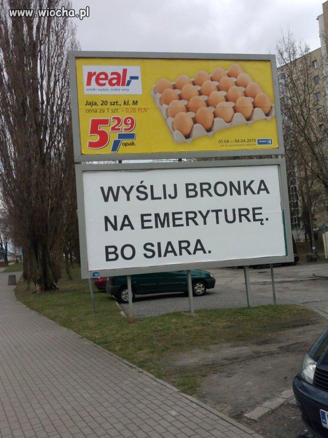 Kolejny billboard na Bronka